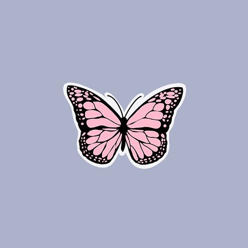 Pink Butterfly Sticker