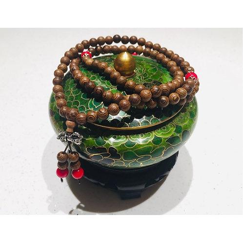 Bracelet en bois et Corail bambou