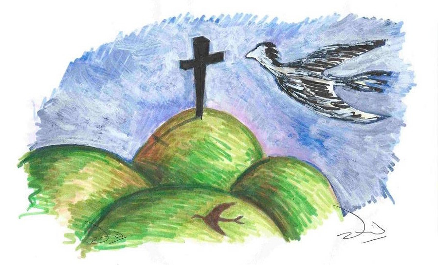 "Illustration ""Frère du Ciel"" par DavidM.Arts"
