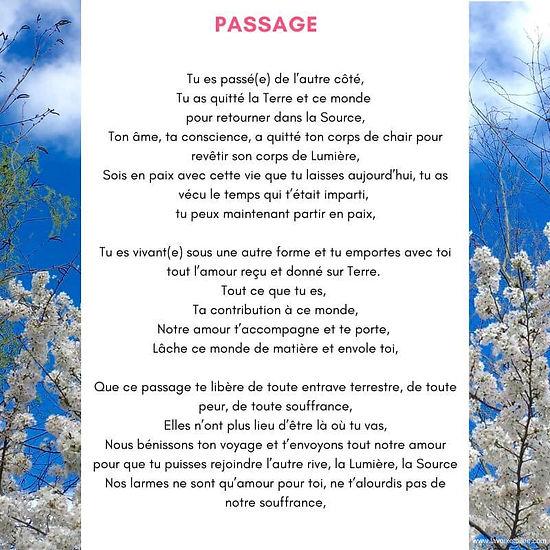 Prière Passage 1