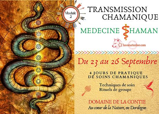 Flyer Transmission Medecine Shaman Sept