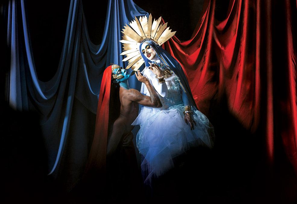 Virgin Xtravaganzah, Imma Mess, Phillip Prokopiou, virgin xtravaganza, virgin extravaganza, Virgin mary drag queen, london drag queen, drag queen,