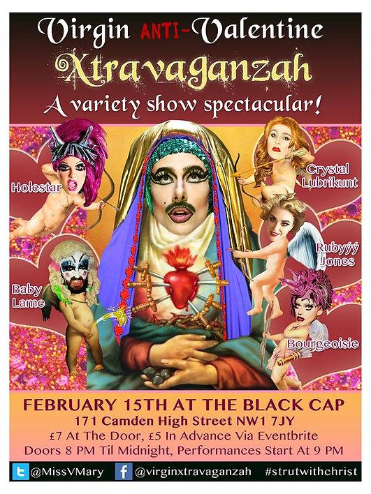 Virgin Xtravaganzah, Virgin Mary drag queen