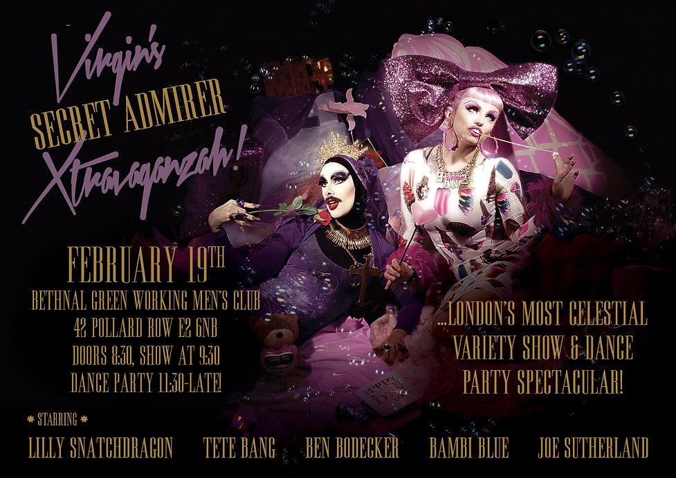 Virgin Xtravaganzah, Virgin xtravaganza, virgin mary drag queen, virgin, Tete Bang