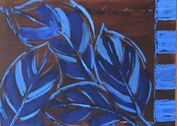 diverse feuilles bleues