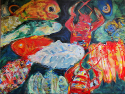Fish and shrimps