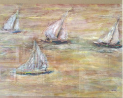 4 bateaux ¦ acrylique