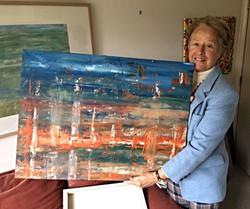 Emmy et le tableau Immeubbles bord de mer