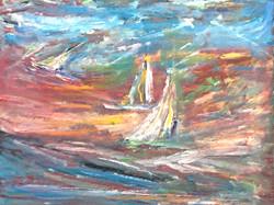 2 voiliers mer agitée