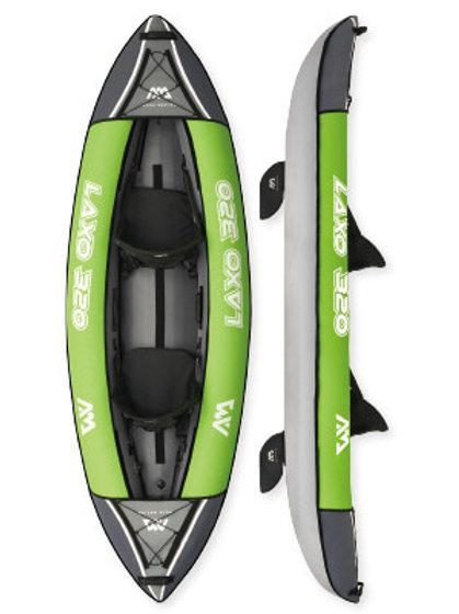 Laxo-285  Kayak gonflable de loisir.Plancher gonflable, pagaie de kayak incluse