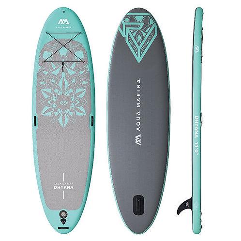 Dhyana - Paddle gonflable Yoga, 3.36m/15cm, avec pagaie et leash
