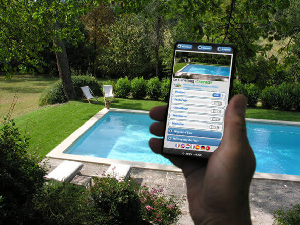 Application mobile et piscine