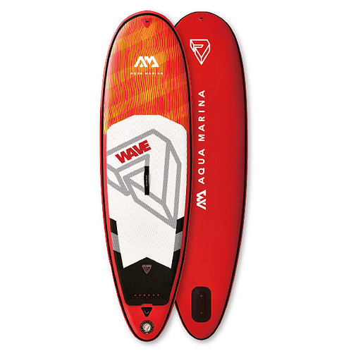 Wave - Paddle gonflable de surf  2.65m/10cm, avec leash de surf