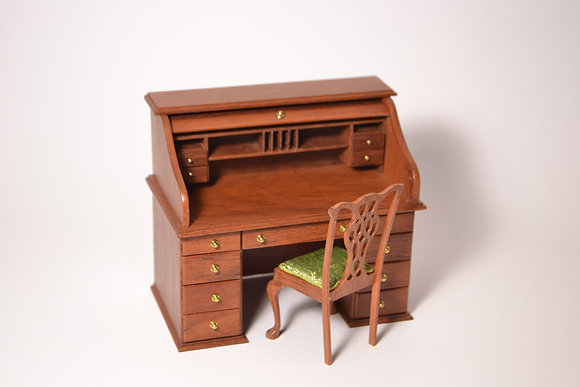 Roll top writing desk