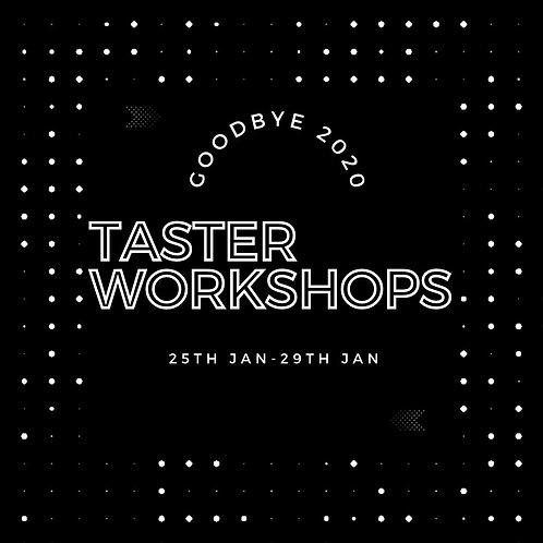 Taster Workshops - 3 Classes Pass