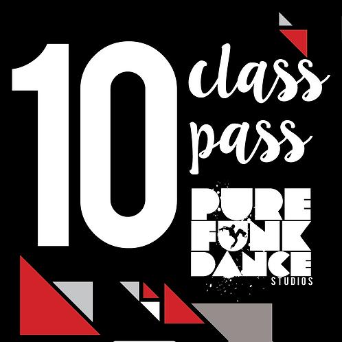 10 Class Pass (Mini Jams only)