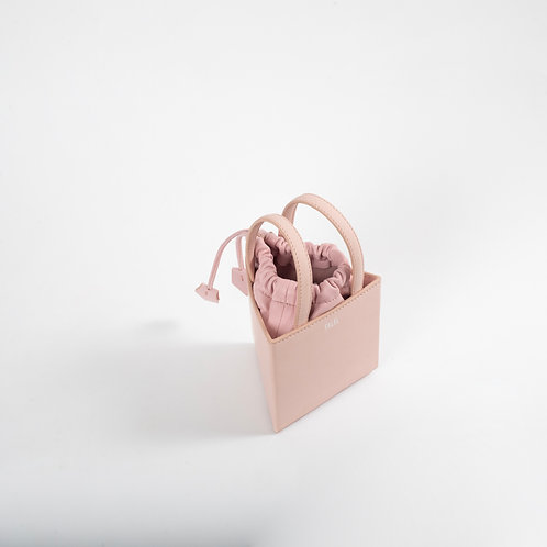Small triangle bag light pink