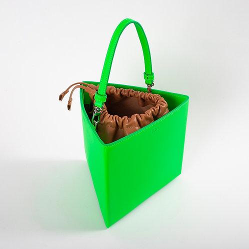 Large trianglebag neon green