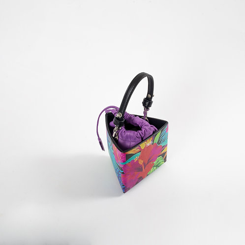Small triangle bag floral print
