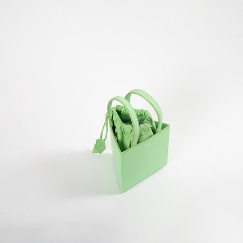 Small triangle bag light green