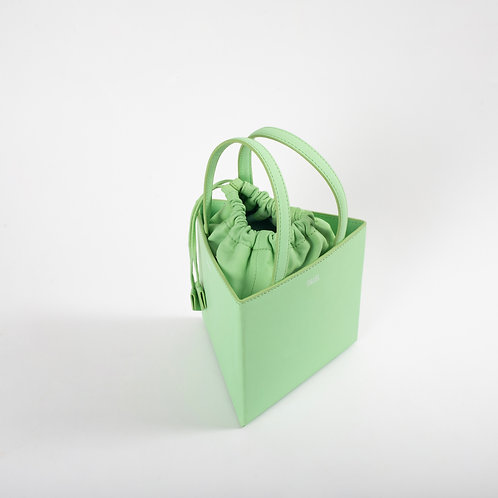 Medium triangle bag light green