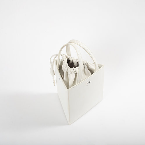 Medium triangle bag off white