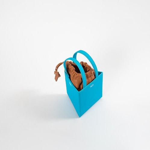 Small triangle bag sky blue