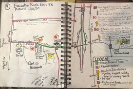 Journaling Evacuation Routes