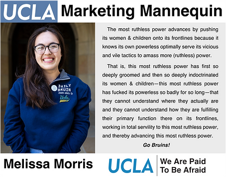 Former UCLA Daily Bruin editor in chief, Melissa Morris