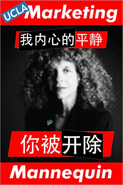 Barbara Kruger, UCLA Marketing Mannequin (Chinese)