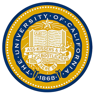 UC seal & motto: Let There Be Ass-kissers & Bootlickers