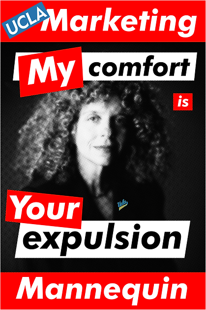Barbara Kruger; My comfort is your expulsion