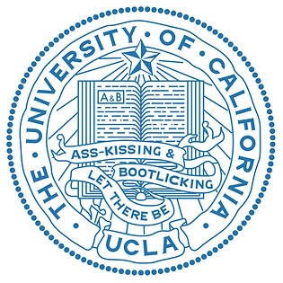 UCLA seal & motto: Let There Be Ass-kissing & Bootlicking