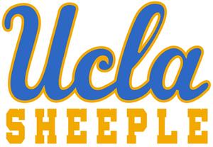 UCLA script logo = UCLA Sheeple