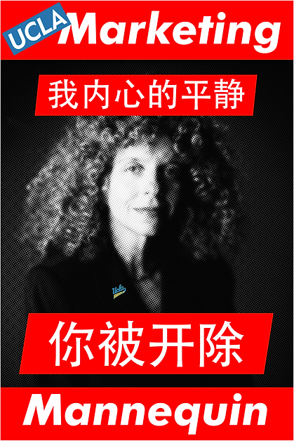 Barbara Kruger; My peace of mind, you're fired (Chinese)