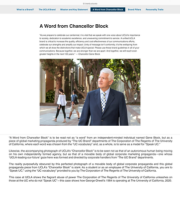 """A Word From UCLA Chancellor Block"""