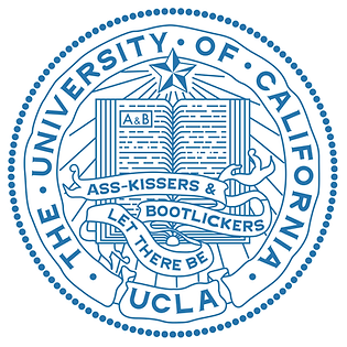 UCLA seal & motto: Let There Be Ass-kissers & Bootlickers