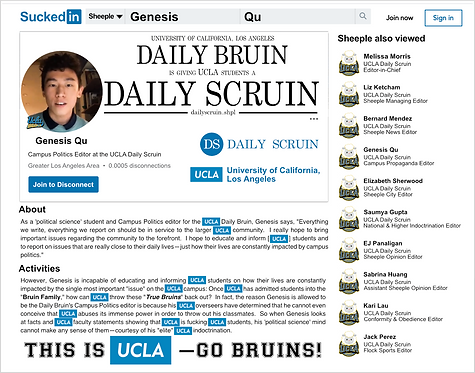 UCLA Daily Bruin, Campus Politics Editor: Genesis Qu