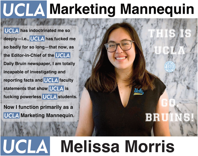 Melissa Morris, UCLA | Daily Bruin, Editor in Chief