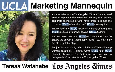 Teresa Watanabe LA Times & UCLA