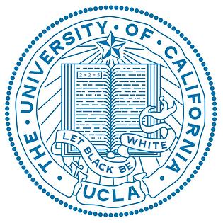 UCLA logo: Let Black Be White