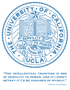 UCLA seal & motto: Let There Be Servility to Power