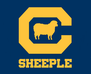 UC Berkeley's Cal logo (Golden Sheeple)
