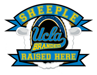 UCLA logo: UCLA Branded Sheeple Raised Here