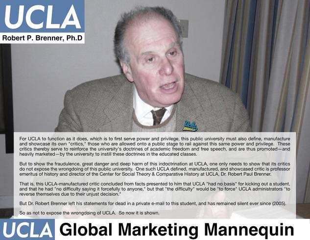 Dr. Robert Brenner, UCLA History Department