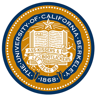 UC Berkeley seal & motto: Let There Be Ass-kissers & Bootlickers