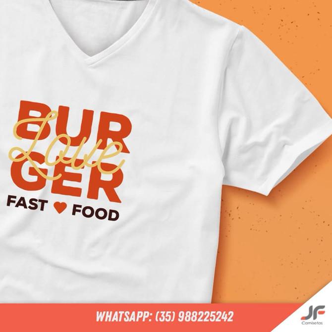 Camiseta para empresa de Hamburguer
