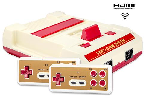 Retro Genesis 8 Bit HD Wireless + 300 игр (HDMI кабель, 2 беспроводных джойстика