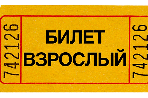 """Билет """"Взрослый"""""""