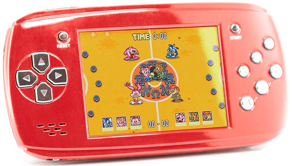 Портативная игровая приставка 16bit DVTech Scout + 9 игр (красная)